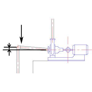 ポンプ吸込み配管の勾配不良