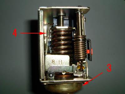 saginomiya サギノミヤ SNS-C106 圧力スイッチ カバー取外し後 横向き