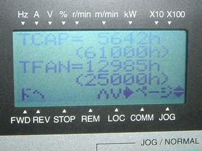 給水ポンプ エバラ フレッシャー310 インバータ 富士電機 液晶表示