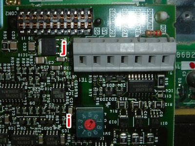 テラル SX-VFC 給水ポンプ用 インバータ 三菱:FR-T629-7.5K-31 端子台拡大