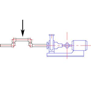 ポンプ吸込み側 鳥居配管 説明図