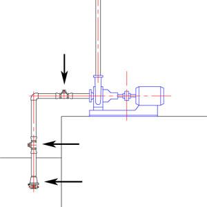 ポンプ吸込み側 複数のチャッキ弁設置は吸込み不良を起こしやすくなります