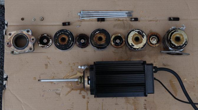 荏原製作所 増圧給水ポンプ40MVFL403.7 を分解