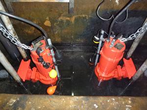 排水ポンプ設置